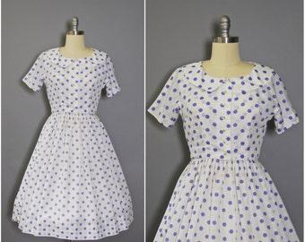1950's L'Aiglon Dress Set • Polka Dot Dress • 50's Dress and Bolero