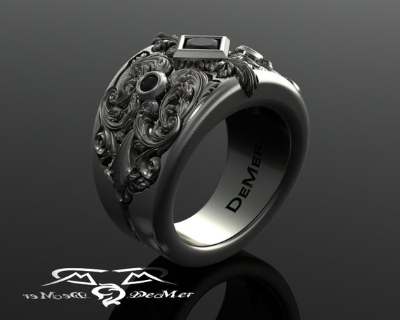 victorian steampunk wedding ring - Steampunk Wedding Rings