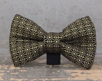 Gold Dog Bow Tie Classic Wedding Doggie Tie - Dog Bow Tie Only, Collar NOT Included
