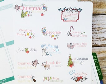 Christmas Bucket List Planner Stickers by Lavish Paper Co. | for Erin Condren, inkWELL Press, Mormon Mom Planner, Happy Planner and more!