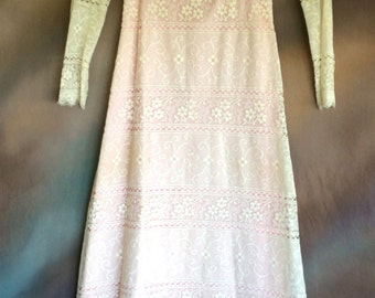 Vintage Lace Full Length Dress