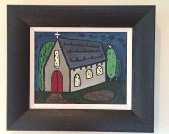 red door Irish chapel