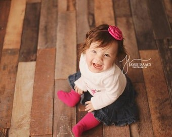 Rosette Headband, Pink Rosette Headband, Pink Headband, Baby Headband, Photo Prop, Newborn Headband, Photography Prop, Photo Props