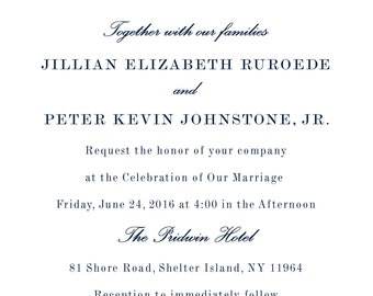 Nautitucal Monogram Wedding Invitation Suite PDF