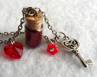Love Potion Necklace - Gothic, Vial, Love, Valentine