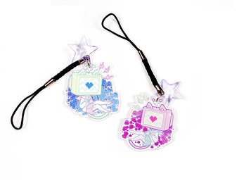 "Static 1.5"" Acrylic Charm with Phone Strap (Double-Sided)"