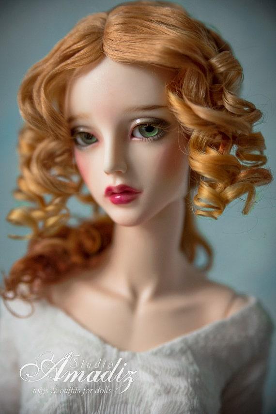 Golden Renaissance Natural Angora Wig For Bjd Sd Msd Tiny