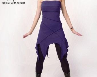 Khepri dress. Faery dress, elven clothing, elven mini dress, fantasy dress, pixie dress, tribal dress, fairy tale, elf dress