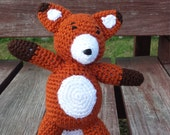 Fox stuffed animal, fox photography prop, woodland fox prop, fox toy, crocheted fox, woodland animal prop, Children's photo prop