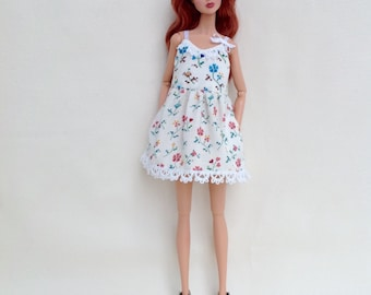 Summer sundress for Poppy Parker, Dynamite Girls, Barbie and similar size dolls
