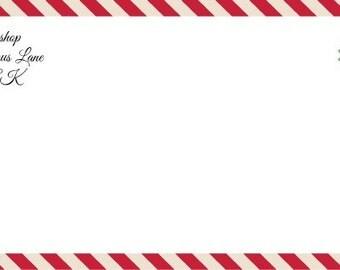 Custom Letter & Envelope From Santa