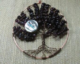Garnet Tree Of Life Pendant