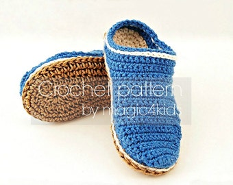 """Crochet pattern- rope soles for toddlers,10 sizes: 5"""" to 8 5/8"""",jute rope soles for kids 1 yo- 10 yo,footwear,slippers,loafers,boots,shoes"""