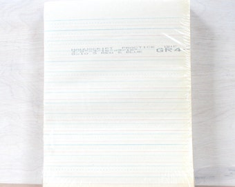 HUGE Pack of Vintage Handwriting Penmanship Calligraphy Practice Paper
