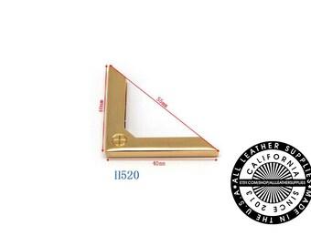 Gold Metal Bag Corner, 40 mm x 40 mm x 55 mm End Corners, Bag Corners, (H520)