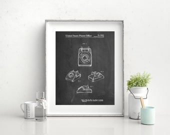 1960's Telephone Poster, 1960's Telephone Patent, 1960's Telephone Print, 1960's Telephone Art, PP0699