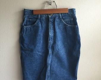 80's Denim Pencil Skirt