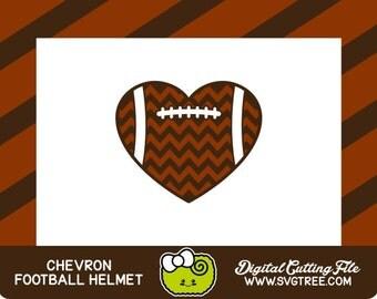 Football SVG Chevron SVG Football Heart Football Decor Commercial Free Silhouette Files Digital Cut Files Football Cricut