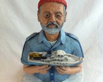 Steve Zissou, Hand Painted Sculpture