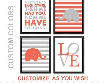 elephant baby nursery, elephant baby girl, elephant baby gift, elephant baby wall decor, baby girl decor, girls room, custom nursery decor