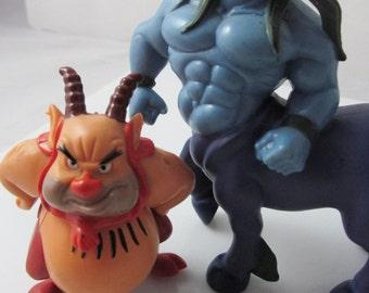 Disney Hercules Phil & Nessus 1990s Action Toy Figures McDonalds Walt Disney