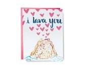 I Lava You - Hand Illustrated Greeting Card