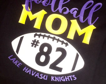 Football Mom Custom T Shirt *free shipping!*