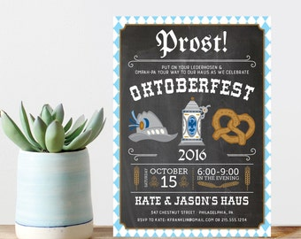 Oktoberfest Invitation - Prost! - Beer Party Invitation - Oktoberfest - Fall Birthday Party