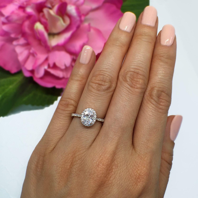 Carat Oval Diamond Engagement Ring