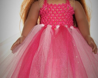 Ready to Ship  Doll Tutu Dress will fit American Girl Doll or any 18 inch Doll