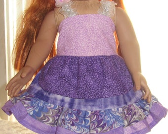 READY to SHIP OOAK boutique 3 piece Doll Outfit will fit American Girl or any 18 inch doll