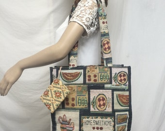 Tote bag, shoulder bag, home sweet home, tapestry, coin purse, purse bag, purses bags