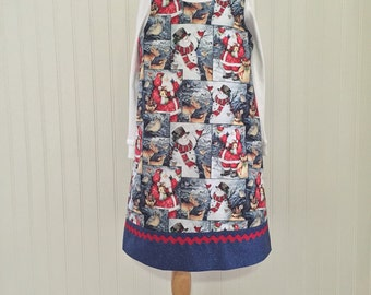 Girls jumper Girls Christmas dress Girls size 6 Girls Holiday dress Ready to ship