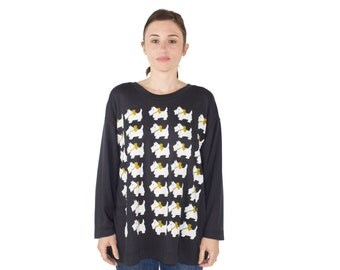Vintage 80s Scotty Dog Shirt | Soft Sweatshirt | Cute Oversized Dog Graphic Pullover T-Shirt | Size Extra Large