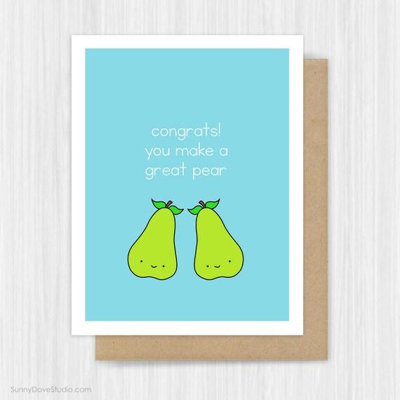 wedding congratulations card bridal shower funny engagement