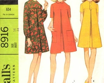 McCall's 8916 Misses Dress in Three Versions Sewing Pattern