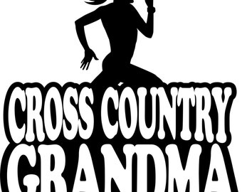 Cross Country Grandma Hoodie/ Cross Country Grandma Sweatshirt/ Cross Country Grandma/ Girl Runner Cross Country Grandma Hoodie Sweatshirt