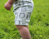 Baby Shorts - Baby Boy Shorts - Organic Baby Leggings Shorts - Baby Girl Shorts - Twins Outfits - White Shorts - Newborn Outfit