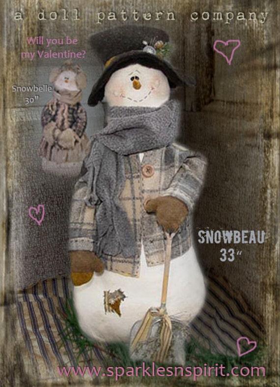 "Pattern: Snowbeau - 33"" Snowman"