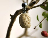 Raven Pendant. bone jewelry carvin