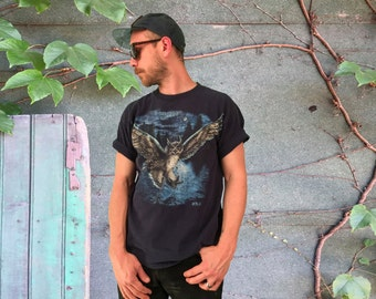 Flying Owl 80'S Nature T-Shirt