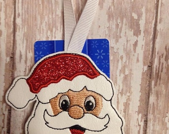 Santa - Gift Card Holder - Christmas - Ornament -  In The Hoop - DIGITAL Embroidery DESIGN