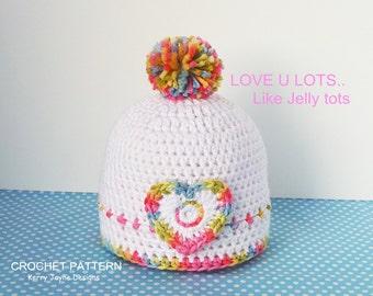 BABY CROCHET HAT Pattern Jelly tots hat crochet pattern - Crochet Baby Hat Pattern - Baby Crochet Hat Pattern - Crochet  pattern baby hat