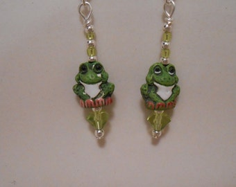 Tiny Frog Earrings Item No. 171
