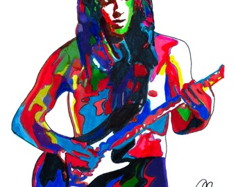 David Gilmour of Pink Floyd, Guitar Player, Lead Guitar,  Singer Songwriter, The Wall, The Dark Side of the Moon, 18x24 POSTER w/COA