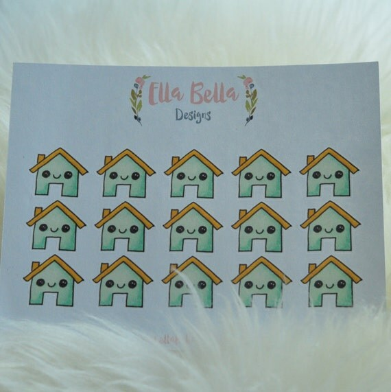 Hand Drawn house stickers