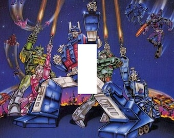 Transformers the Movie 1986 Single Light Switch Plate Cover Optimus Prime