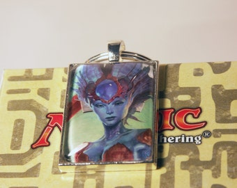 Repurposed Magic the Gathering Card Keychains