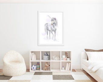 Unicorn Print - Fairy Tale Nursery - Gift for Her - Unicorn Nursery - Childrens Art Print - Fairy Tale Art - Kids Wall Decor - Girl Room