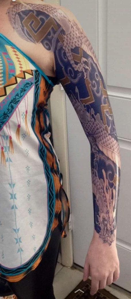Hanzo temporary tattoo sleeve for Hanzo tattoo sleeve